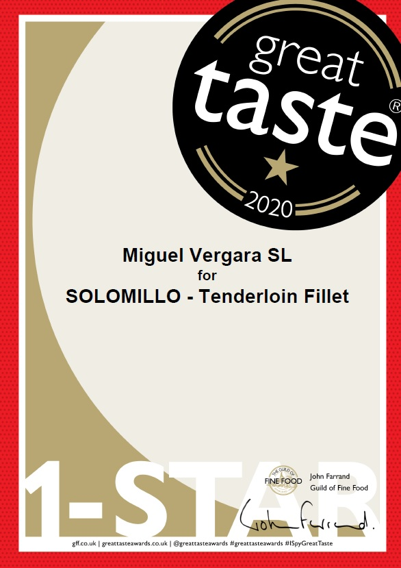 "1903/5000 Miguel Vergara Angus Achieves 3 Stars At The Great Taste Awards, The ""Oscars"" Of Food"