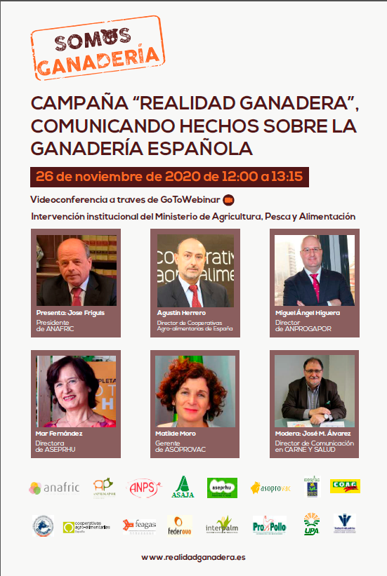 Presentation Of The Realidad Ganadera Campaign, On November 26 At 12 Pm. Sign Up Now!