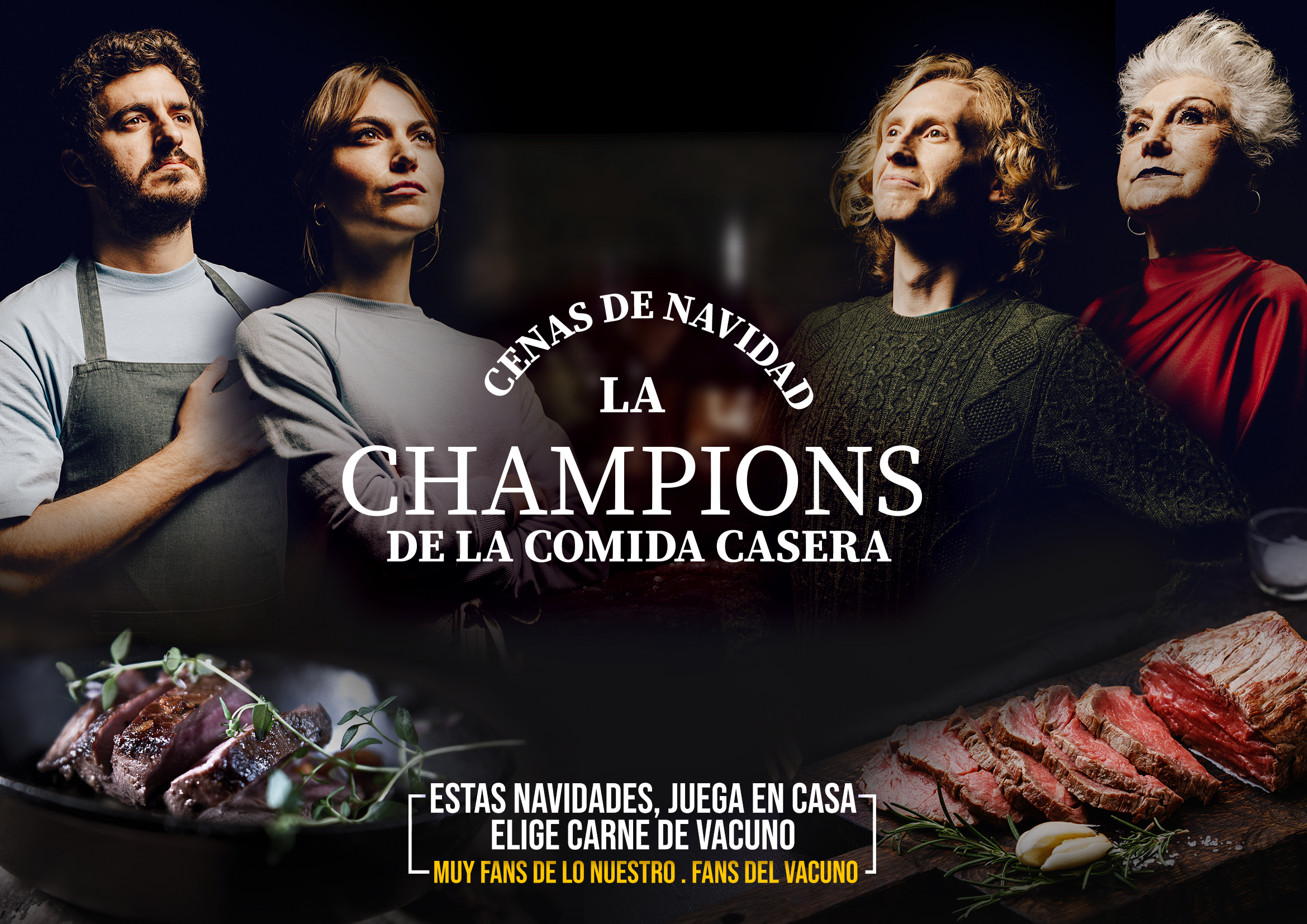 Provacuno Launches 'La Champions De La Comida Casera', The New Campaign To Enjoy And Hit Christmas With The Best Meat In The World
