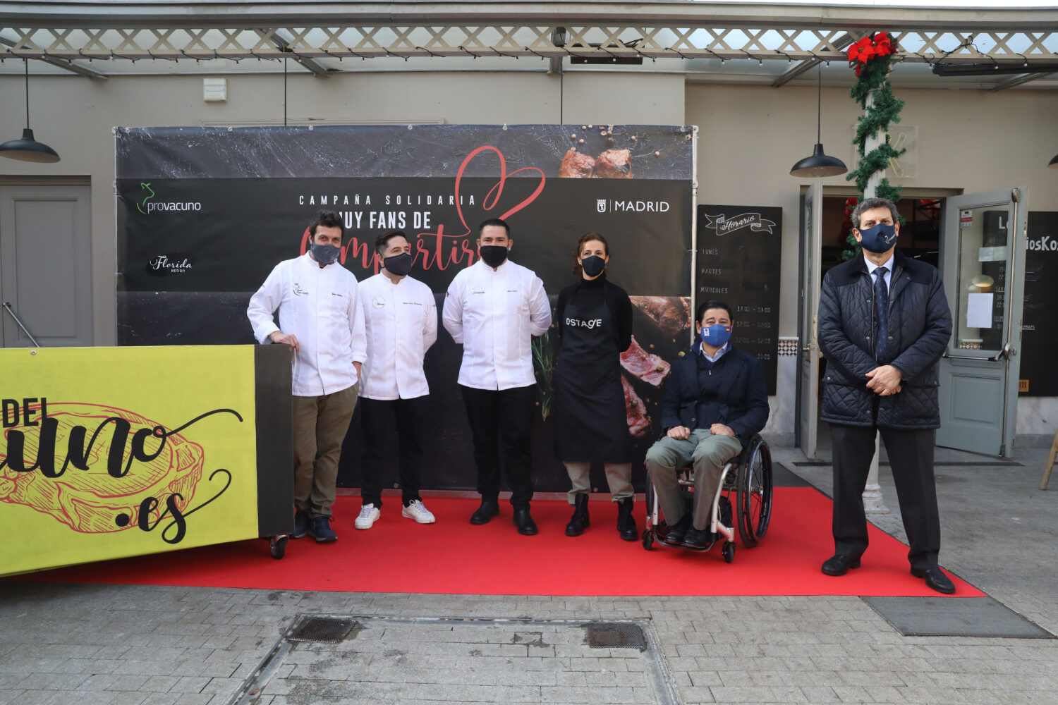 Madrid City Council And Provacuno Distribute 1,000 Meals With Beef Cooked By Michelin Stars For People In Need